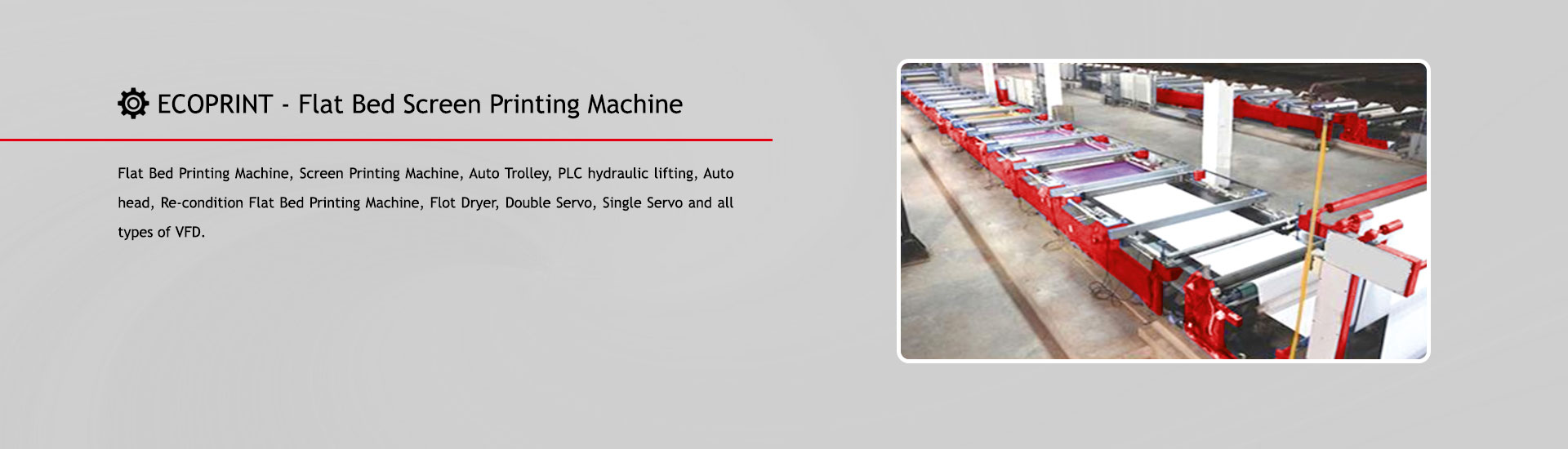 Ecoprint Flat Bed Screen Printing Machine